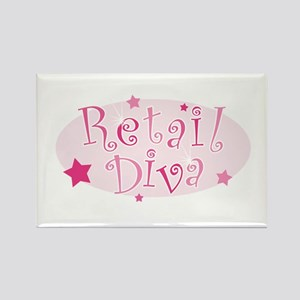"""Retail Diva"" [pink] Rectangle Magnet"